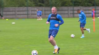 Go behind-the-scenes at USM Finch Farm as Wayne Rooney returns to the Everton training ground.