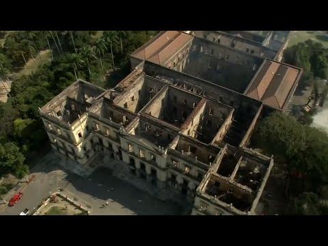 20 Millionen Exponate zerstört: Großbrand vernichtet br ...