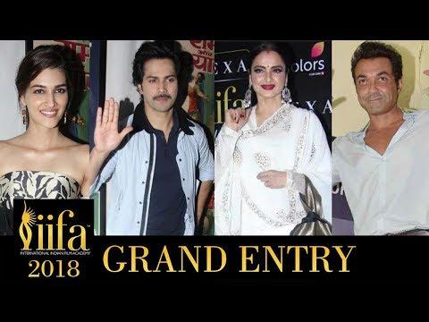 IIFA Awards 2018 Bangkok : Rekha, Bobby Deol, Varu