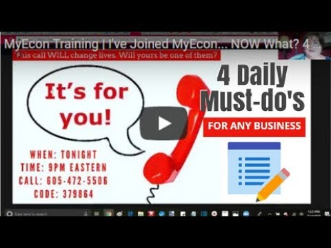 MyEcon Training | 4 Daily Tasks For ANY Business