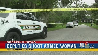 Shotgun-wielding woman shot by deputies in Brooksville