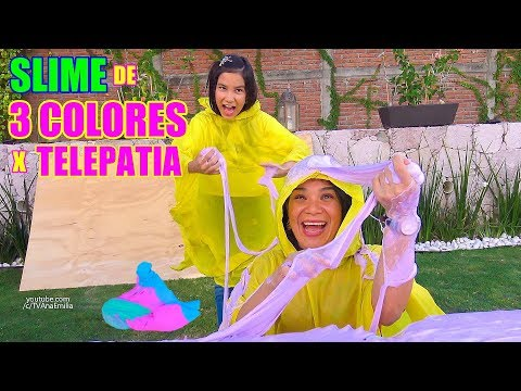 SLIME DE 3 COLORES POR TELEPATIA | TV Ana Emilia