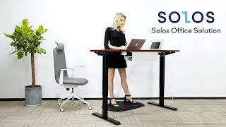 SOLOS Premium L-shaped Standing Desk youtube video