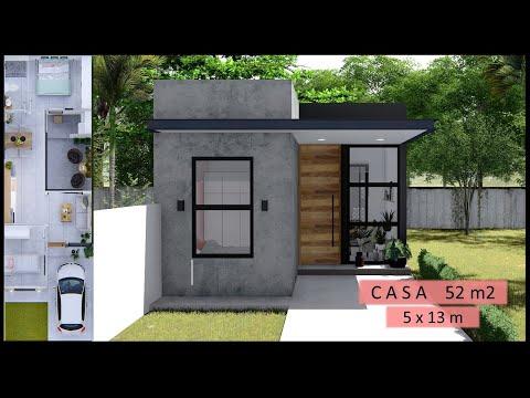 Casa pequeña 5x13 - 2 habitaciones - un nivel 52m2