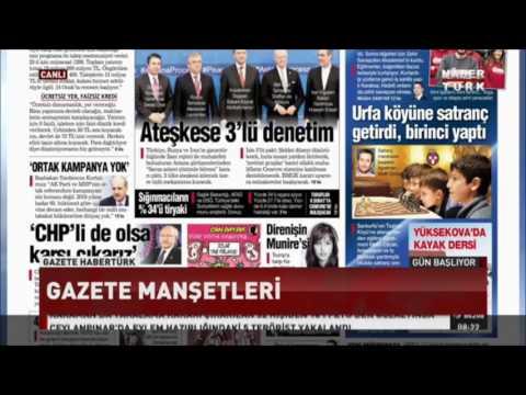 Habertürk TV - Gazete Manşetleri - Türkiye Küçükler, Yıldızlar ve Emektarlar Şampiyonaları - 25 Ocak 2017