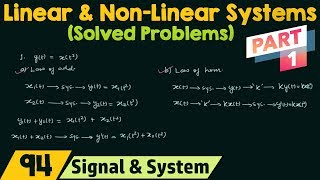 Linear and Non-Linear Systems (Solved Problems) | Part 1
