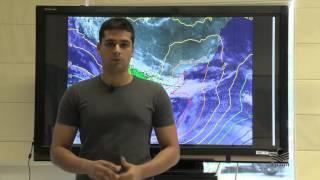 Confira a previsão do tempo para a próxima semana em Santa Catarina.