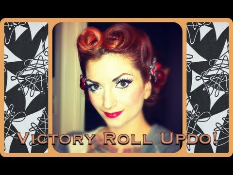 cherry dollface - This is the hairstyle I had in my 20 questions video and I got a lot of requests for a tutorial. So here it is! This is a pretty traditional center part vict...
