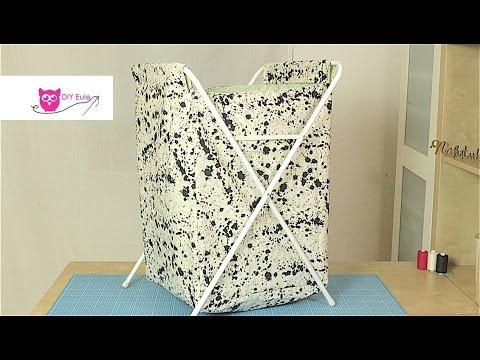 Ikea Hack: Wäschekorb neu beziehen - DIY Eule