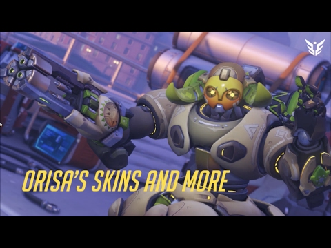 Overwatch Hero Orisa's Skins, Emotes, And Highlights