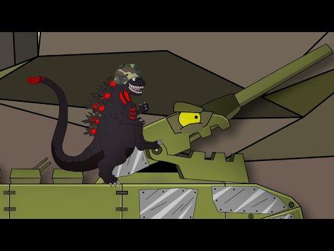 Godzilla vs Tanques de escorpião - Animados Sobre Tanques - Part 2