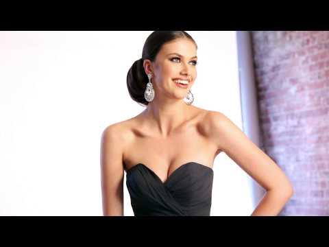 Elegant Celebrity Navy Faviana Dress 6428