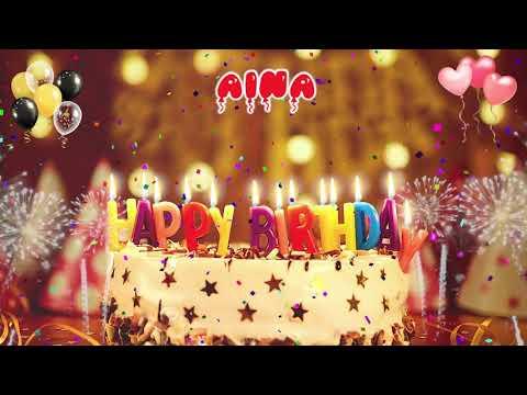 AINA Happy Birthday Song – Happy Birthday Aina キでお誕生日おめでとう 誕生日 おめでとう