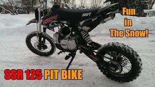 7. SSR 125 Pit Bike Fun in the Snow