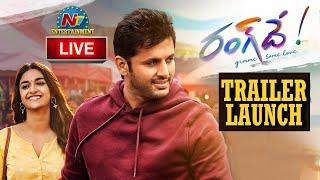 Rang De Theatrical Trailer Launch Live   Nithiin   Keerthy Suresh   DSP   Venky Atluri