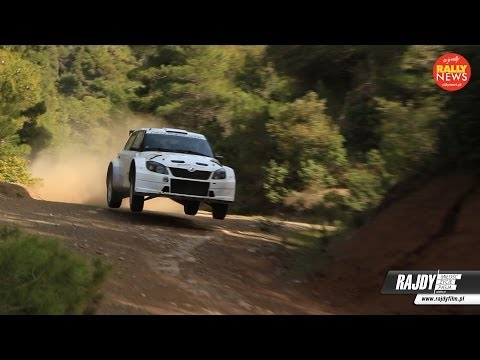 Skoda Fabia R5 - gravel tests Greece