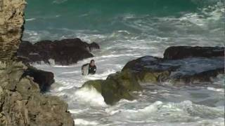 Surfer Getting Smashed On Rocks in WA