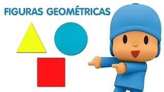 Pocoyo português Brasil - Aprenda as FIGURAS GEOMÉTRICAS com Pocoyo   Vídeos Educativos para Crianças