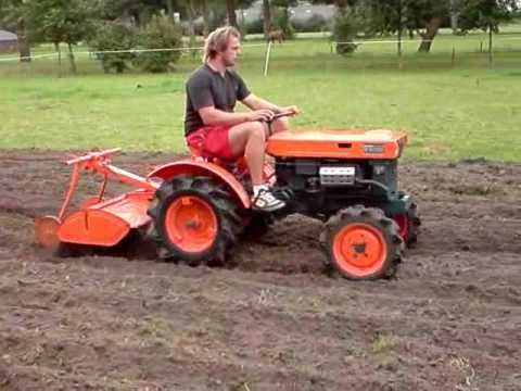 Johnson on a mini tractor