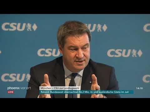 Pressekonferenz der CSU zur Landtagswahl in Bayern am ...