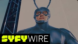 "Mystery abounds at the Tick activation at San Diego Comic-Con, all in preparation for the Tick's debut on Amazon on August 25.►►Subscribe To SYFY Wire: http://po.st/SubscribeSYFYWireWatch More Videos from San Diego Comic-Con 2017 ►► http://po.st/SYFYWIRE_SDCC2017Catch all of the exciting news from San Diego Comic-Con 2017 with SYFY WIRE. Watch Videos from SYFY WIRE ►►  http://po.st/SYFYWIRE_videosSYFY WIRE is a fan-first genre news and editorial destination dedicated to covering science fiction and nerd culture across TV, Film, Books, Comics, space and technology with up-to-the-minute news, in-depth analysis and content that drives conversation and debate.Watch ""Everything You Didn't Know"" Videos ►► http://po.st/SYFYWIRE_EYDKUncover all the easter eggs, references, and fun facts from classic movies, shows, and comic books.Watch ""Lightning Round"" videos ►► http://po.st/SYFYWIRE_LightningRoundLearn everything there is to know about classic movies, shows, and comic books in just two minutes.Watch ""In 2 Minutes"" Videos ►► http://po.st/SYFYWIRE_In2MinLearn everything there is to know about classic movies, shows, and comic books in just two minutes.Watch Lists and Rankings Videos ►►http://po.st/SYFYWIRE_ListsAndRankingsWe love lists. Check out our favorite movies, shows, comic books.Watch Videos about Movies ►► http://po.st/SYFYWIRE_MoviesLearn even  about your favorite movies with SYFY WIRE.Watch Movie Sneak Peeks ►► http://po.st/SYFYWIRE_MovieSneakPeeksCatch these exclusive sneak peeks of upcoming movies.Watch ""Drawing Famous Characters"" Videos ►► http://po.st/SYFYWIRE_CharacterDrawingsWatch comic book legends bring iconic characters to life.Watch Celebrity Interviews ►►http://po.st/SYFYWIRE_CelebrityInterviewsCatch SYFY WIRE's exclusive interviews with your favorite celebrities.Watch Writer & Creator Interviews ►► http://po.st/SYFYWIRE_CreatorInterviewsGet the inside scoop from the writers and creators of your favorite shows, movies, and comic books. About SYFY WIRE: SYFY WIRE is a fan-first genre news and editorial destination dedicated to covering science fiction and nerd culture across TV, Film, Books, Comics, space and technology with up-to-the-minute news, in-depth analysis and content that drives conversation and debate.Check out exclusive SYFY WIRE content:Visit SYFYWIRE.com: po.st/SYFYWIREFind SYFYWIRE on Facebook: po.st/LikeSYFYWIREFollow SYFYWIRE on Twitter: po.st/FollowSYFYWIREAbout SYFY: It doesn't matter if you're into space outlaws, exiled dragon queens, or survivors of the zombie apocalypse. If you love it, you're one of us.Check out exclusive SYFY content: Watch SYFY on YouTube: https://www.youtube.com/c/SYFYSubscribe to SYFY on YouTube: http://po.st/SubscribeToSYFYVisit SYFY.com: http://bit.ly/VisitSYFYFind SYFY on Facebook: http://bit.ly/LikeSYFYFollow SYFY on Twitter: http://bit.ly/FollowSYFYFollow SYFY on Google+: http://bit.ly/PlusSYFYFollow SYFY on Instagram: http://bit.ly/InstaSYFYFollow SYFY on Tumblr: http://bit.ly/TumblrSYFYThe Tick Activation at San Diego Comic-Con 2017  SYFY WIREhttps://www.youtube.com/c/SYFYWIRE"