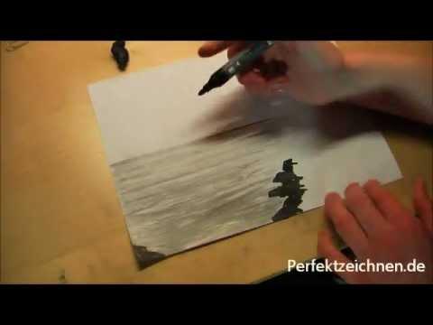 JA HEY! Zeichnen Lernen: Wasser Wellen Meer Ozean Strand Zeichnen