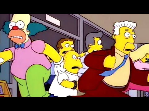 The Simpsons Practice Social Distancing