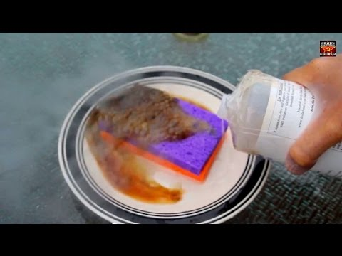 Sulfuric Acid and Sponge Reaction – Chemistry experiment