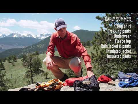 Recommended clothing: Backpacking in the Mountain West