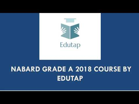 NABARD Grade A 2018 Course Offerings by EduTap