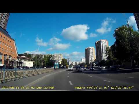 Авария с мотоциклистом в Киеве с 1,50