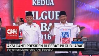 Download Video Kaus #2019GantiPresiden di Debat Pilgub Jabar, Ini Tanggapan Pasangan Cagub-Cawagub MP3 3GP MP4