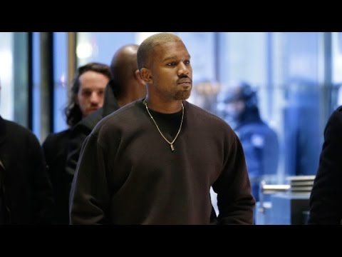 Kanye West meets Donald Trump At Trump Tower in NYC