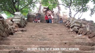 Battambang Cambodia  City new picture : Banon Temple at Battambang Province in Cambodia | 358 Steps to Hilltop