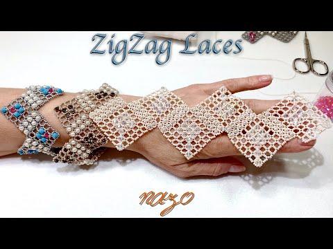 Nazo ile ZigZag dantel bileklik nasıl yapılır (How to make a ZigZag lace bracelet)