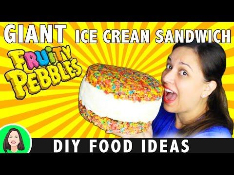 GIANT FOOD - WORLD'S LARGEST ICE CREAM SANDWICH | DIY YUMMY SUMMER LIFE HACKS | DIY FOOD IDEAS