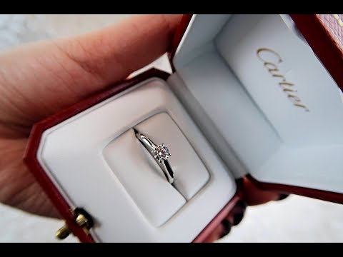 Cartier Unboxing - 1895 Solitaire Ring (Diamond)