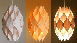 DIY lamp (Eternal flame) - learn how to make a paper lampshade...