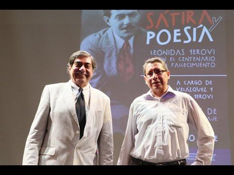 """Conferencia """"Sátira y Poesía: Leonidas Yerovi en el centenario de su fallecimiento"""""""