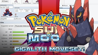 Gigalith Moveset Guide! How to use Gigalith! Pokemon Sun and Moon! w/ PokeaimMD! by PokeaimMD