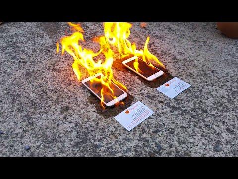 這個人放火燒iPhone 6和三星S5手機,看看哪一部燒完還能開機…結果?我不接受!