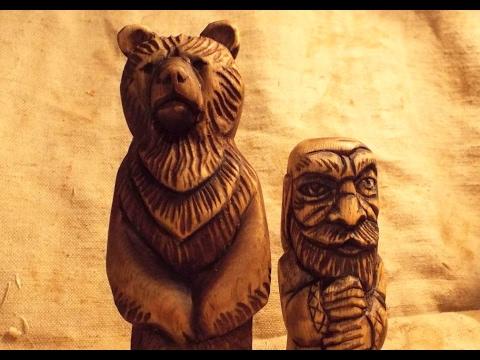 , title : 'Резьба по дереву  Медведь скульптура. Woodcarving, sculpture bear'