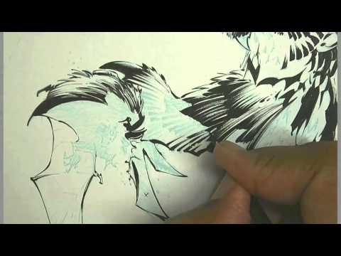 0 Video: Inking of Batman Court of Owls