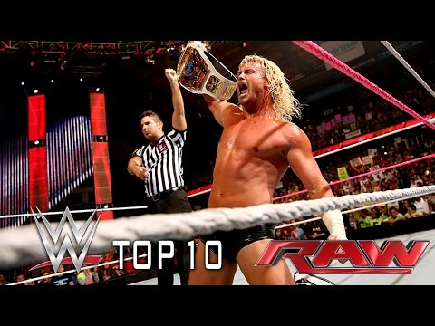 Top - WWE Top 10 takes you back to this week's Monday Night Raw to revisit the show's most thrilling, physical and controversial moments. See FULL episodes of Raw on WWE NETWORK: http://bit.ly/1wJ13X0...