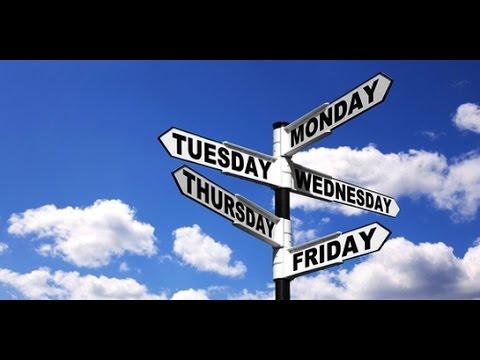 Veure vídeoLa Tele de ASSIDO - Inglés: Los Días de la Semana