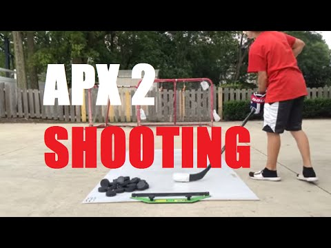 Apx2 hockey puck shooting