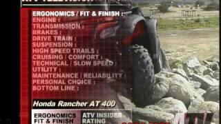 9. ATV Television QuickTest - 2004 Honda Rancher 400AT 4x4
