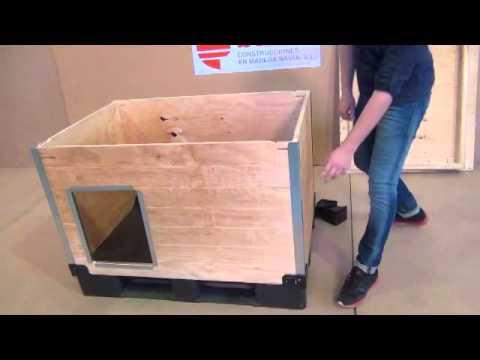 Caseta para perro de madera automontable sin herramientas ni tornillos - Casas para perros pequenos ...