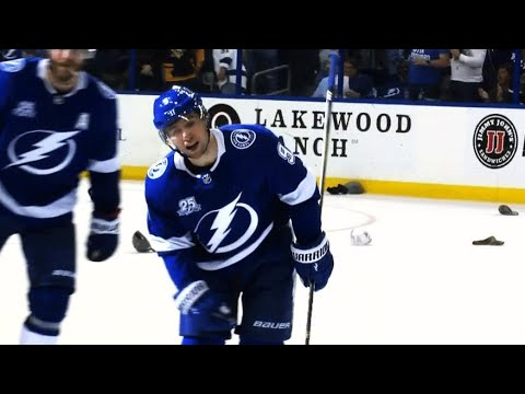 Video: Tyler Johnson scores hat trick for Lightning against Hurricanes