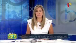 Contraloría advierte de retraso en obras para los Juegos Panamericanos 2019 (Canal 5)